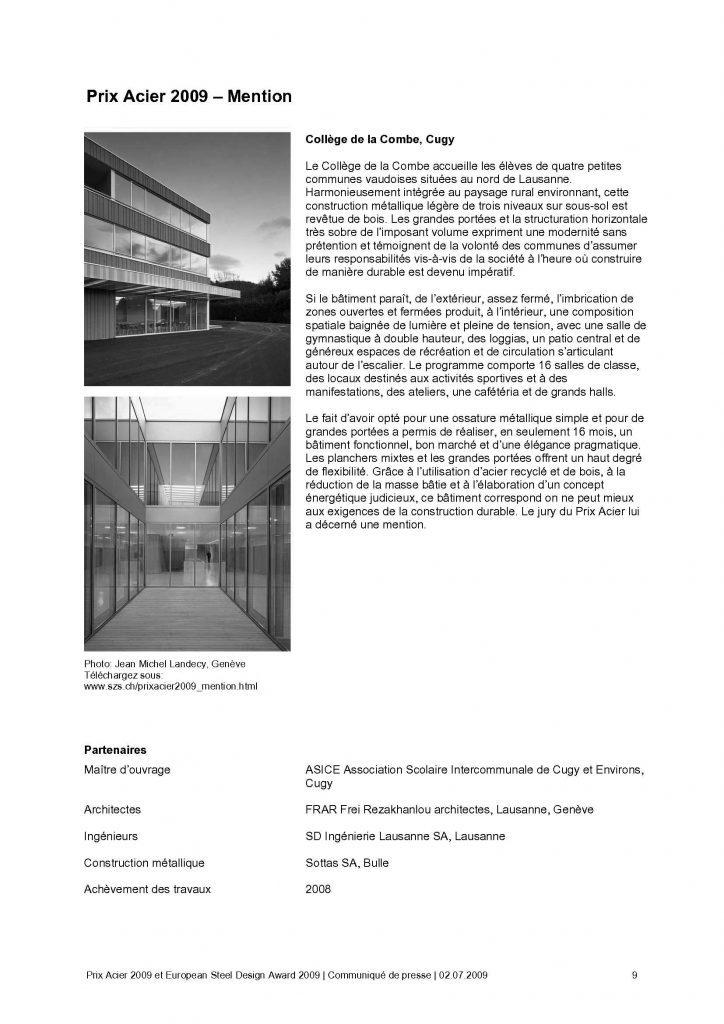 Stahlpreis 2009 Charpentes Metalliques Et Facades Metalliques